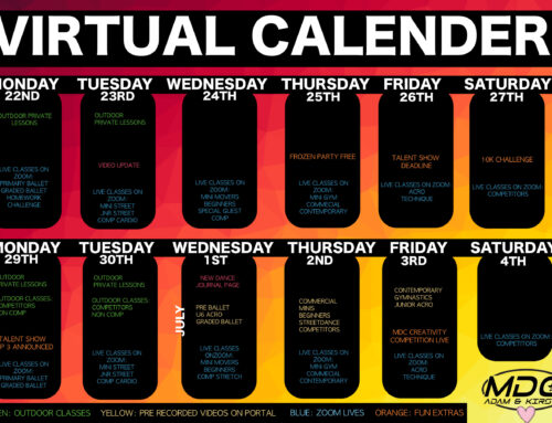 OUR NEXT FEW WEEKS VIRTUAL CALENDER!